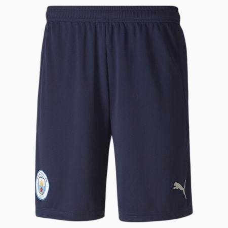 Man City Replica Men's Football Shorts, Peacoat-Whisper White, small-SEA