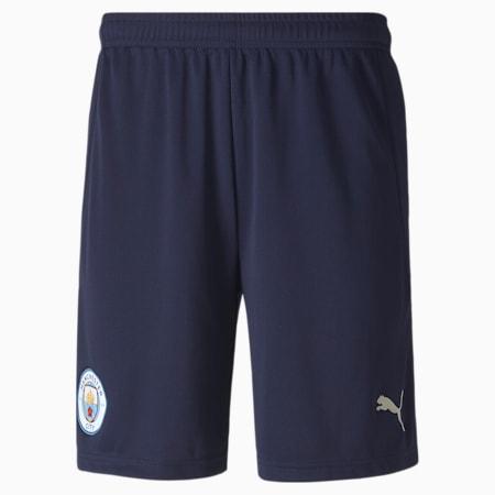 Manchester City FC Men's Replica Shorts, Peacoat-Whisper White, small