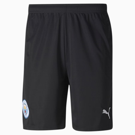 Man City Replica Men's Goalkeeper Shorts, Puma Black-Asphalt, small
