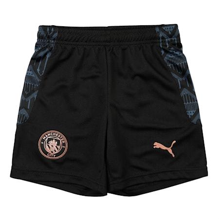 Manchester City Replica Kid's dryCELL Football Shorts, Puma Black-Dark Denim, small-IND