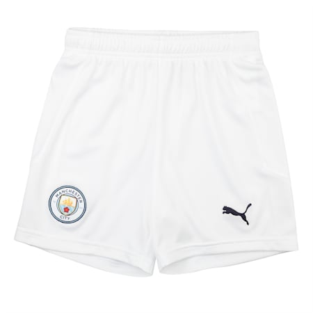 Manchester City Replica Kid's dryCELL Football Shorts, Puma White-Peacoat, small-IND