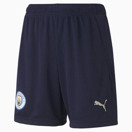 Man City Replica Youth Football Shorts, Peacoat-Whisper White, small