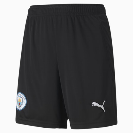 Man City Replica Youth Goalkeeper Shorts, Puma Black-Asphalt, small