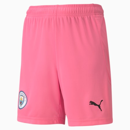 Man City Replica Youth Goalkeeper Shorts, Pink Glimmer-Beetroot Purple, small