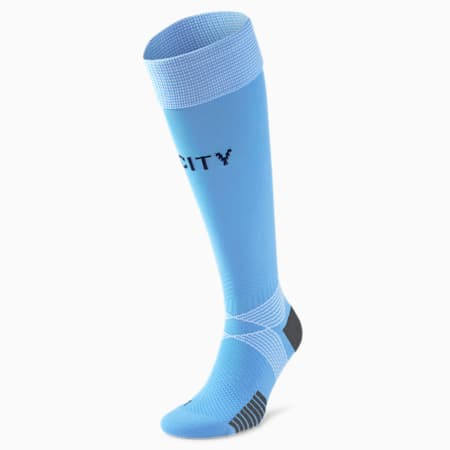 Man City Replica Men's Football Socks, Team Light Blue-Peacoat, small