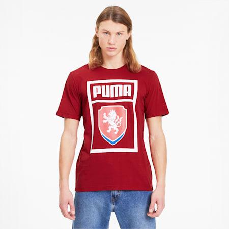 Camiseta para hombre PUMA Czech Republic DNA, Chili Pepper, small