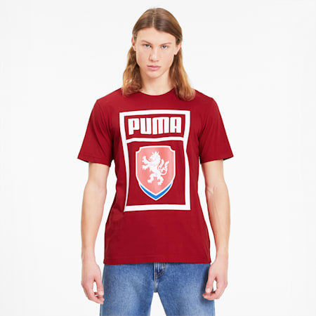 Czech Republic PUMA DNA Men's Tee, Chili Pepper, small