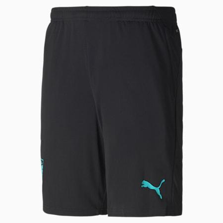 Austria Men's Training Shorts, Puma Black-Blue Turquoise, small