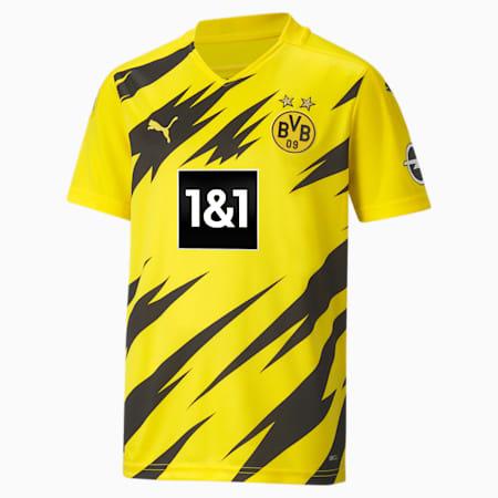Maillot à manches courtes Domicile BVB Replica enfant et adolescent, Cyber Yellow-Puma Black, small