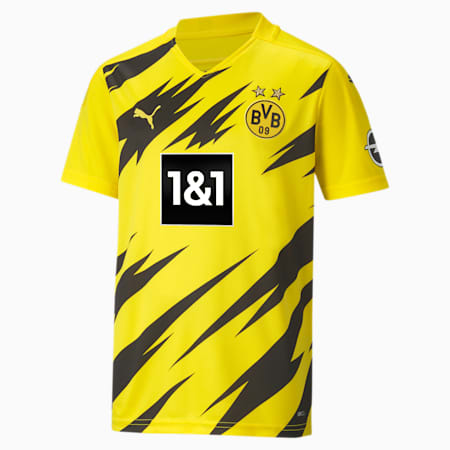 BVB Home Replica Short Sleeve Youth Jersey, Cyber Yellow-Puma Black, small-GBR