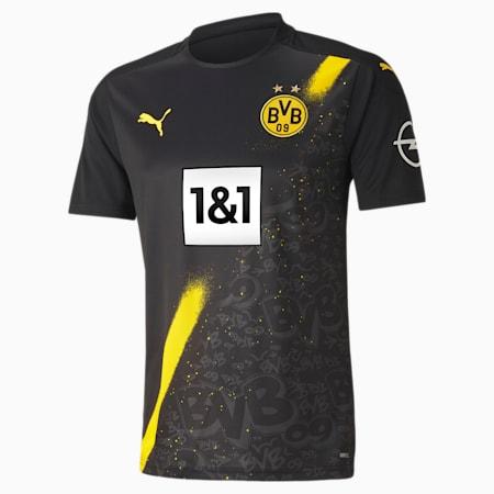 Męska replika koszulki wyjazdowej z krótkim rękawem BVB, Puma Black, small