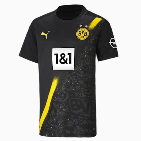 BVB Away Replica Short Sleeve Youth Jersey, Puma Black, small-GBR