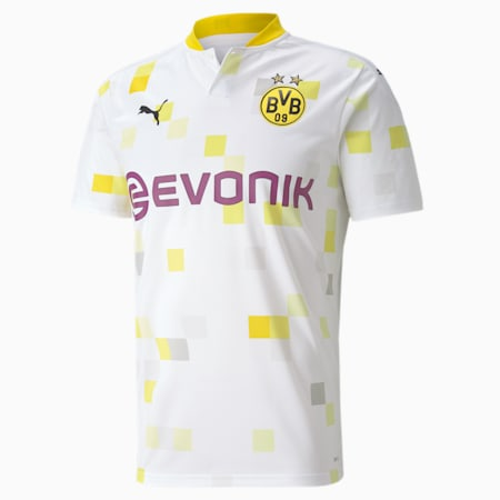 BVB Third Replica Short Sleeve Men's Jersey, Puma White, small