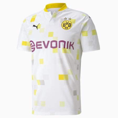 BVB 3rd 셔츠 레플리카 반팔 티셔츠/BVB THIRD Shirt Replica SS, Puma White, small-KOR