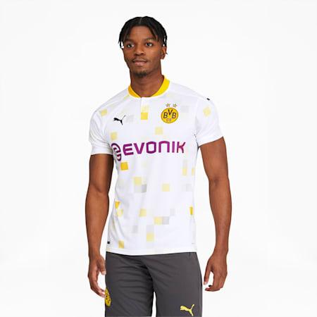 Troisième maillot imitation BVB, homme, Blanc Puma, petit