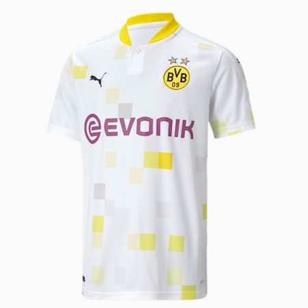 BVB Third Short Sleeve Youth Jersey, Puma White, small