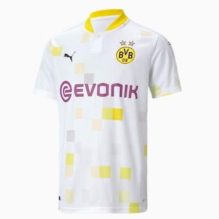 BVB Third Short Sleeve Youth Jersey, Puma White, small-GBR