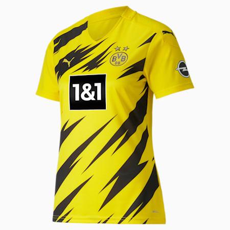 Damska replika koszulki domowej z krótkim rękawem BVB, Cyber Yellow-Puma Black, small