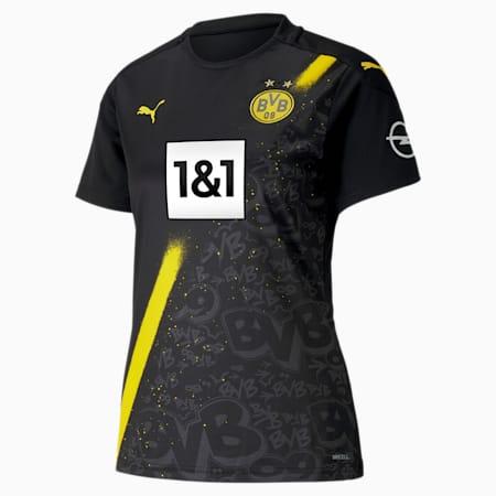 BVB Away Replica Short Sleeve Women's Jersey, Puma Black, small
