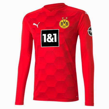 BVB Replica Long Sleeve Men's Goalkeeper Jersey, Puma Red, small