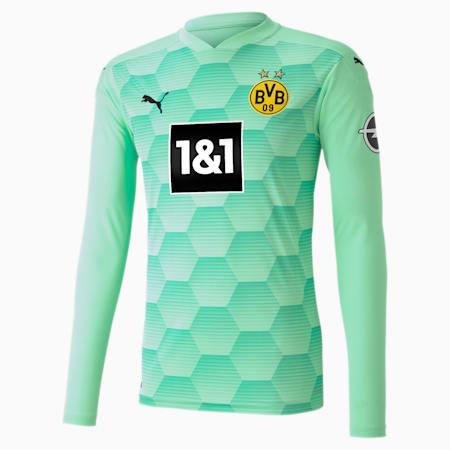 BVB Replica Long Sleeve Men's Goalkeeper Jersey, Green Glimmer, small