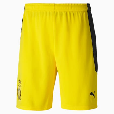 BVB Replica Men's Football Shorts, Cyber Yellow, small