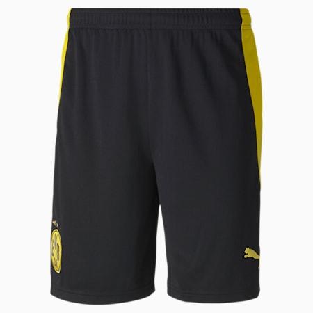 BVB Replica Men's Football Shorts, Puma Black-Cyber Yellow, small-GBR
