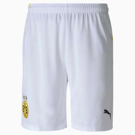 BVB Replica Men's Football Shorts, Puma White, small