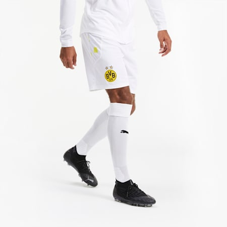 BVB Replica Men's Football Shorts, Puma White, small