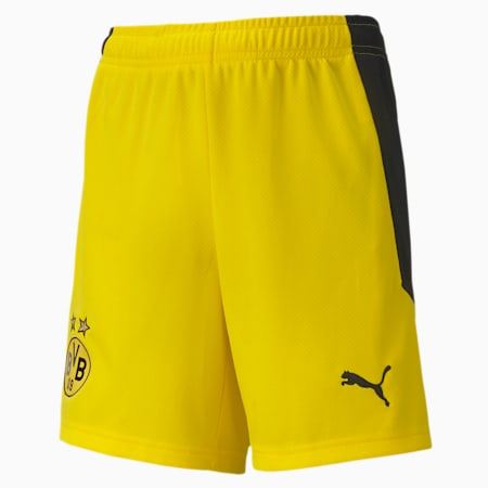 BVB Replica Youth Football Shorts, Cyber Yellow, small