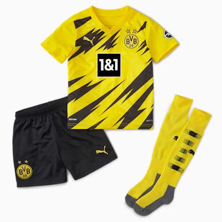 BVB miniset jongeren, thuistenue, Cyber Yellow-Puma Black, small