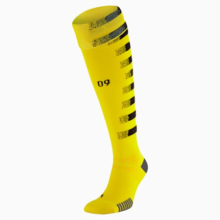 BVB Replica Men's Football Socks, Cyber Yellow-Puma Black, small