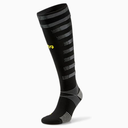 BVB Replica Men's Football Socks, Puma Black-Asphalt, small
