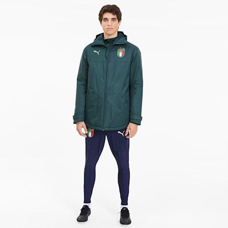 FIGC イタリア トレーニング ウィンター ジャケット, Ponderosa Pine-Peacoat, small-JPN