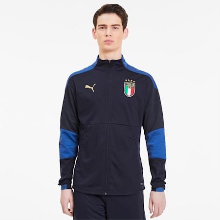 FIGC イタリア トレーニング ジャケット, Peacoat-Team Power Blue, small-JPN