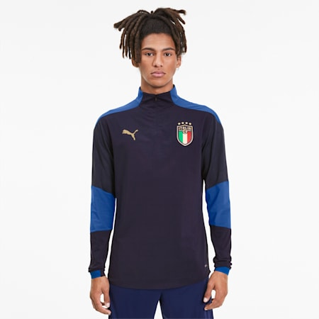 Italia Men's Training Top, Peacoat-Team Power Blue, small