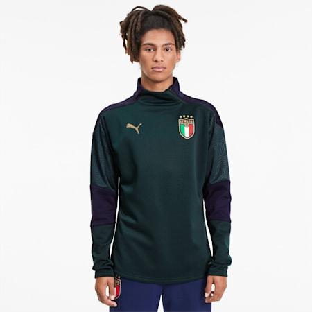 FIGC イタリア トレーニング フリース, Ponderosa Pine-Peacoat, small-JPN