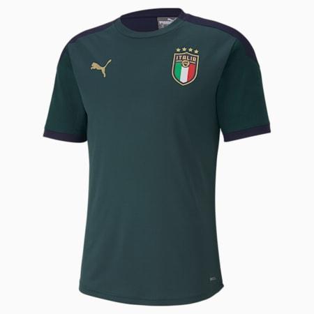Camiseta para entrenamiento de la FIGC, Ponderosa Pine-Peacoat, pequeño