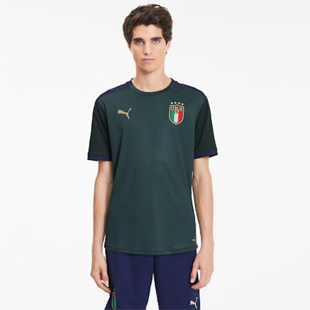 FIGC Training Jersey, Ponderosa Pine-Peacoat, small