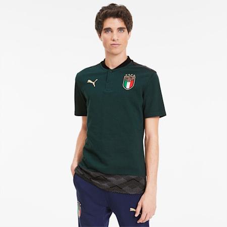 FIGC イタリア カジュアル ポロシャツ 半袖, Ponderosa Pine-Peacoat, small-JPN