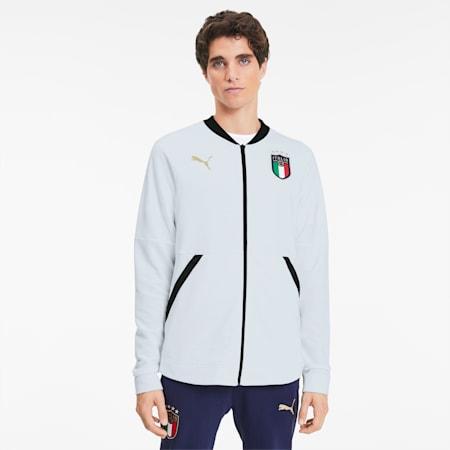 FIGC イタリア カジュアル ジャケット, Puma White-Puma Team Gold, small-JPN