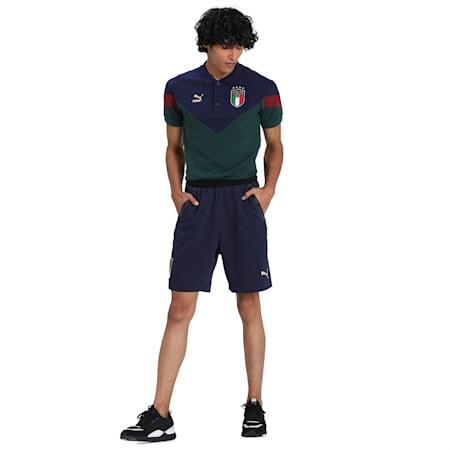 Italia Casuals Men's Shorts, Peacoat-Puma Team Gold, small-IND