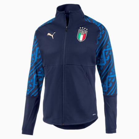 Italia Men's Away Stadium Jacket, Peacoat-Team Power Blue, small