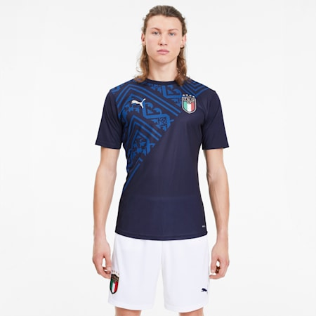 Italia Men's Away Stadium Jersey, Peacoat-Team Power Blue, small