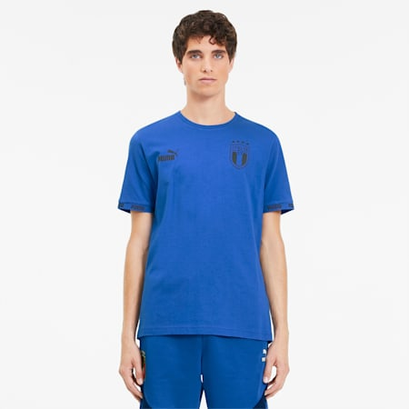 Italia FtblCulture Men's Tee, Team Power Blue, small