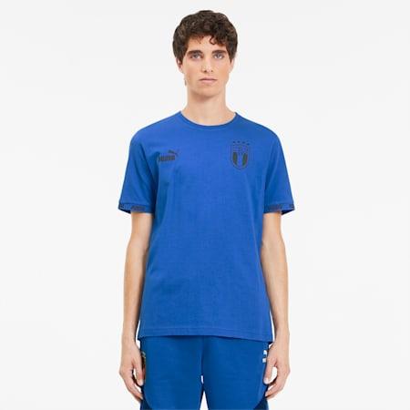 FIGC FtblCulture Men's Tee, Team Power Blue, small
