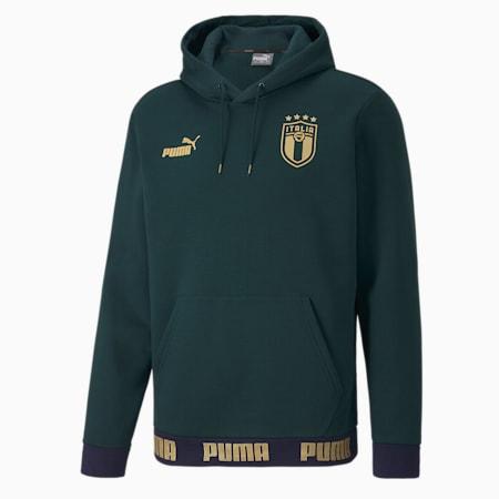 Italia Football Culture Herren Hoodie, Ponderosa Pine-Puma Team Gold, small
