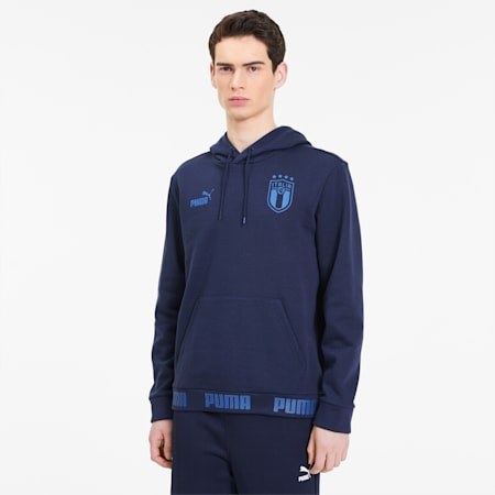 FIGC イタリア FTBLCULTURE フーディー, Peacoat-Team Power Blue, small-JPN