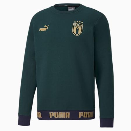 Italia Football Culture Herren Sweatshirt, Ponderosa Pine-Puma Team Gold, small