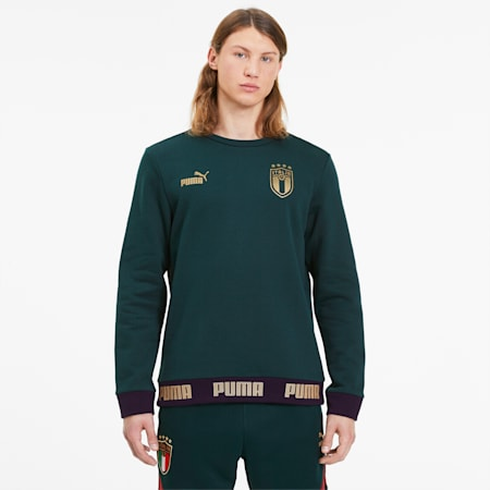 Italia Men's FtblCulture Sweater, Ponderosa Pine-Team Gold, small